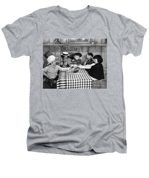 Silent Film: Little Rascals Men's V-Neck T-Shirt by Granger