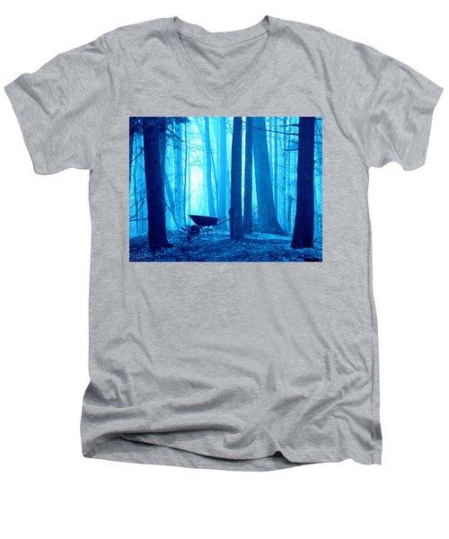 Silent Forest Men's V-Neck T-Shirt by Al Fritz