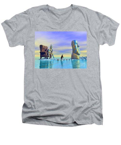 Silent Mind - Surrealism Men's V-Neck T-Shirt
