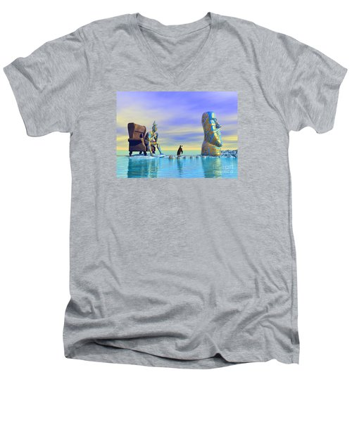 Silent Mind - Surrealism Men's V-Neck T-Shirt