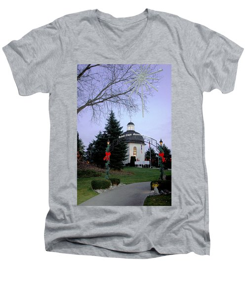 Silent Night Chapel Men's V-Neck T-Shirt