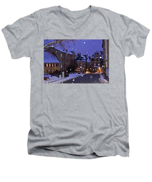 Silent Night In Bamberg, Germany #2 Men's V-Neck T-Shirt