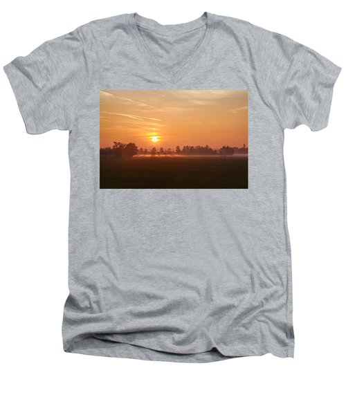 Men's V-Neck T-Shirt featuring the photograph Silent Prelude by Annie Snel