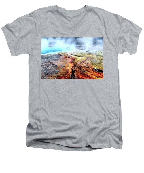 Silex Hot Springs Men's V-Neck T-Shirt
