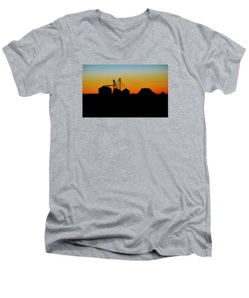 Silhouette Farm Men's V-Neck T-Shirt by William Bartholomew