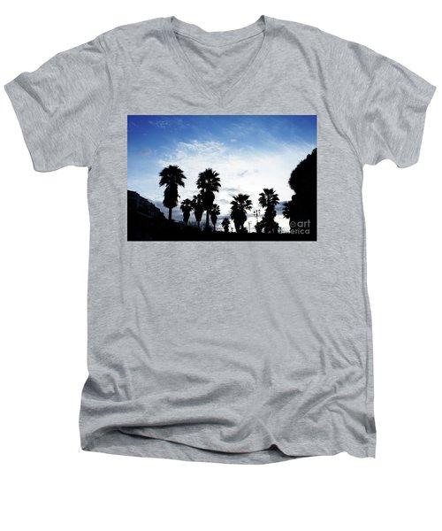 Silhouette In Tropea Men's V-Neck T-Shirt by Ana Mireles