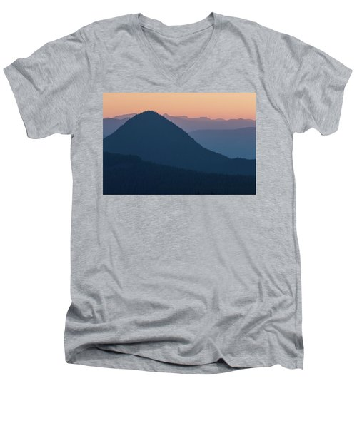 Men's V-Neck T-Shirt featuring the photograph Silhouettes At Sunset, No. 2 by Belinda Greb