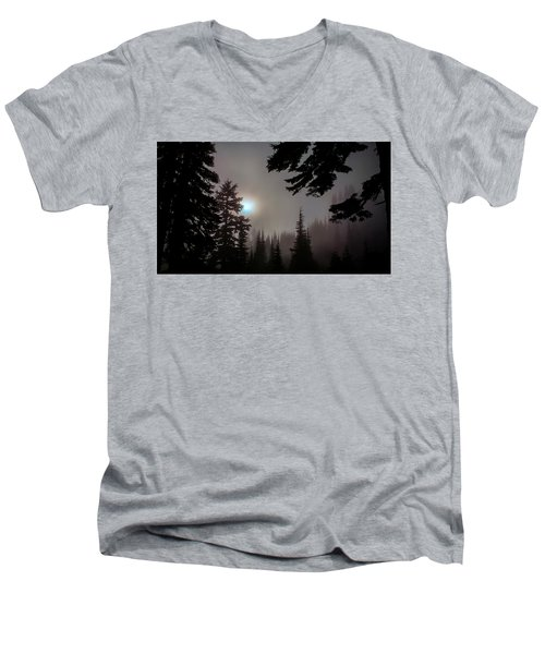 Silhouettes In The Mist 2008 Men's V-Neck T-Shirt