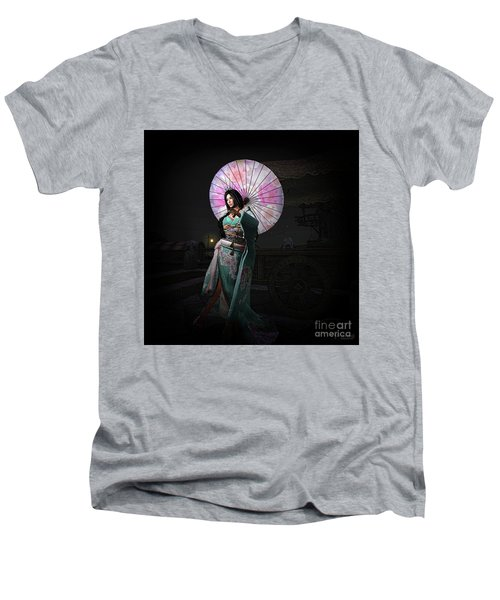 Silks And Parasols 1 Men's V-Neck T-Shirt