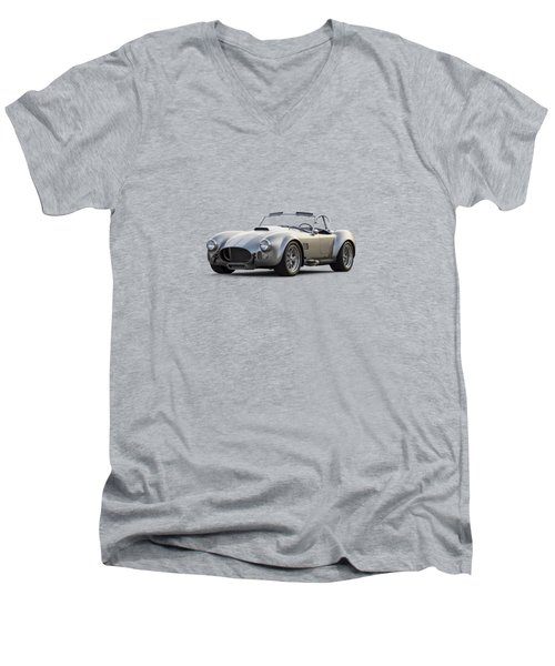 Silver Ac Cobra Men's V-Neck T-Shirt by Douglas Pittman