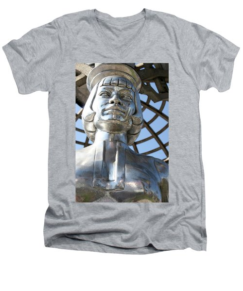 Silver Anna May Wong Men's V-Neck T-Shirt