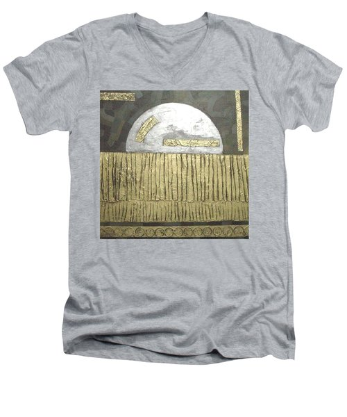 Men's V-Neck T-Shirt featuring the painting Silver Moon by Bernard Goodman