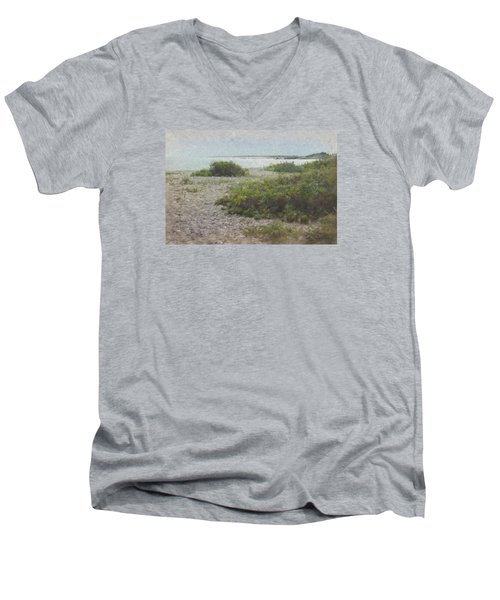 Silver Shoreline Westport Ma Men's V-Neck T-Shirt