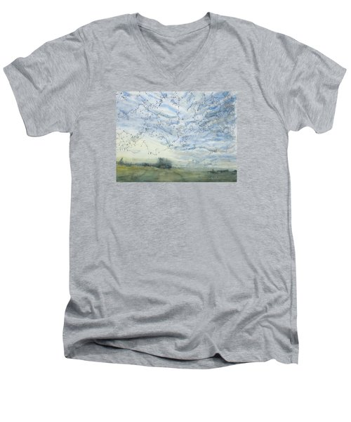 Silver Sky Men's V-Neck T-Shirt