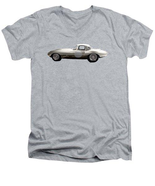 Silver Sports Car Art Men's V-Neck T-Shirt