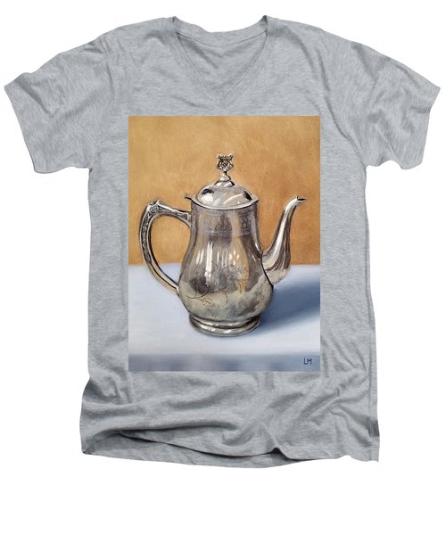 Silver Teapot Men's V-Neck T-Shirt
