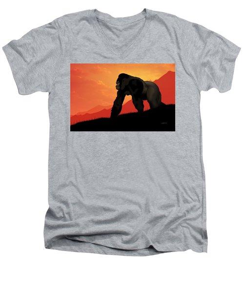 Silverback Gorilla Men's V-Neck T-Shirt