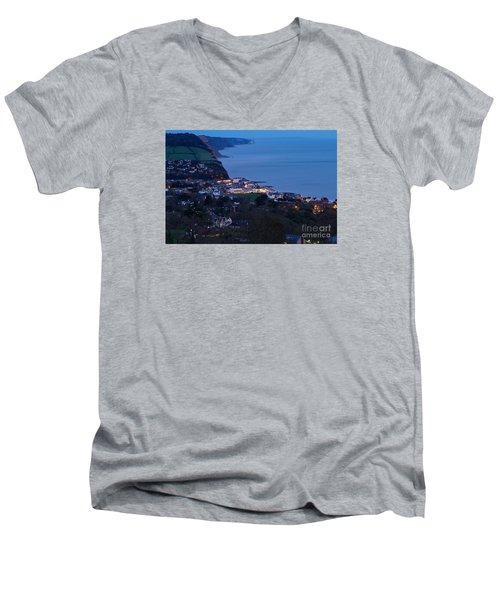 Simouth From A High. Men's V-Neck T-Shirt by Gary Bridger