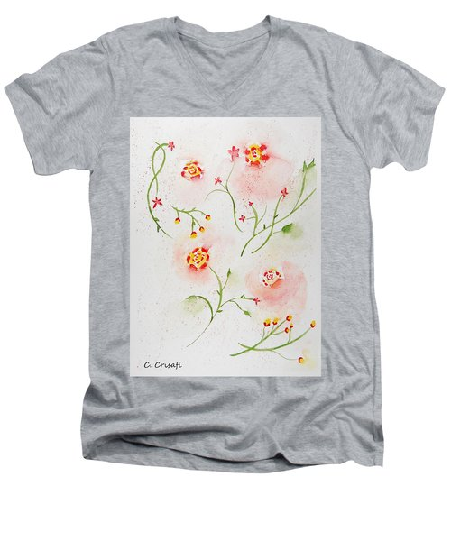 Simple Flowers #2 Men's V-Neck T-Shirt