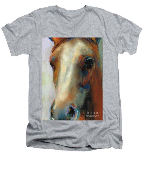 Simple Horse Men's V-Neck T-Shirt by Frances Marino