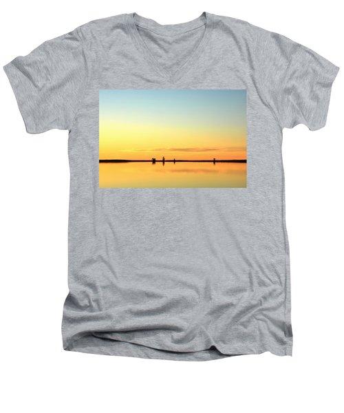 Simple Sunrise Men's V-Neck T-Shirt