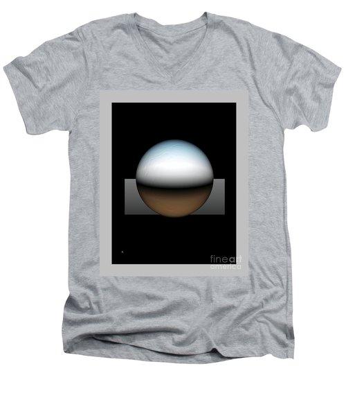Simplicity 25 Men's V-Neck T-Shirt by John Krakora