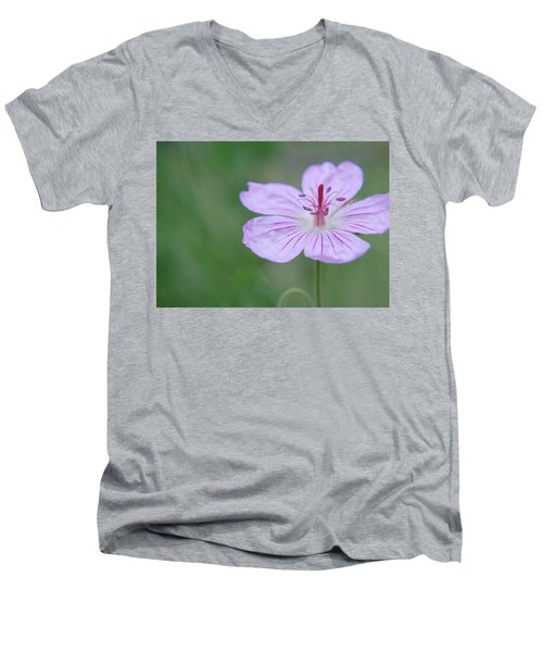 Simplicity Of A Flower Men's V-Neck T-Shirt