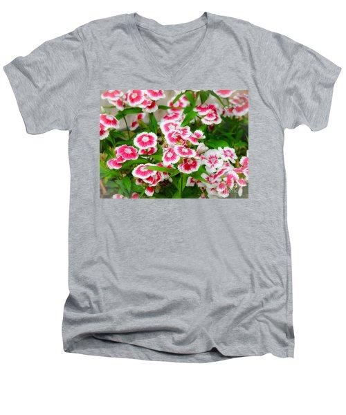 Simply Flowers Men's V-Neck T-Shirt