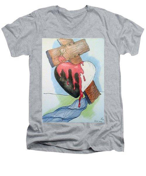 Sin Washer Men's V-Neck T-Shirt by Loretta Nash