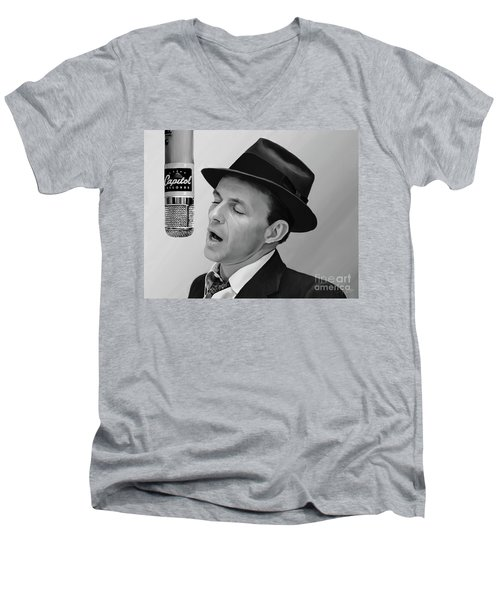 Sinatra Men's V-Neck T-Shirt by Paul Tagliamonte