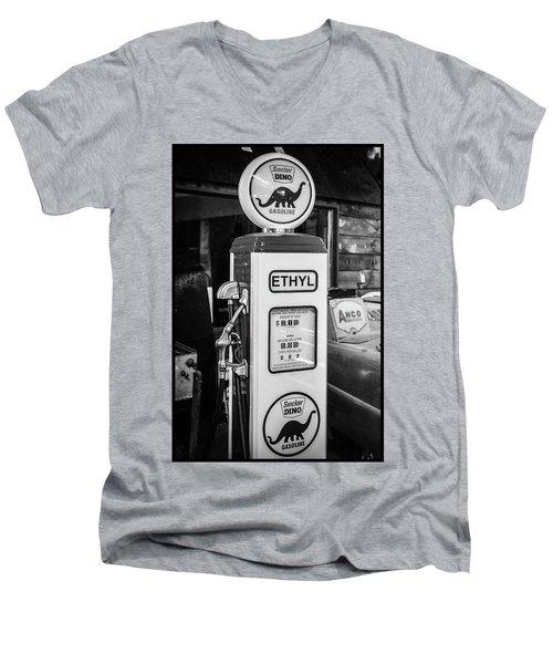 Sinclair Dino Gas Pump Men's V-Neck T-Shirt