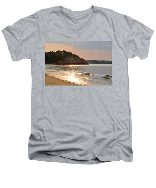 Singing Beach Silver Waves Manchester By The Sea Ma Men's V-Neck T-Shirt