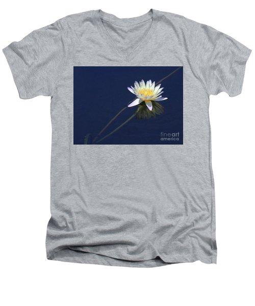 Single Lotus Men's V-Neck T-Shirt