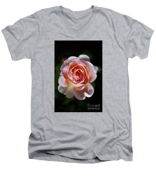 Single Romantic Rose  Men's V-Neck T-Shirt