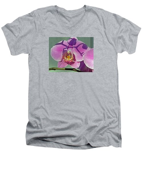 Men's V-Neck T-Shirt featuring the photograph Singular Beauty by Lynda Lehmann