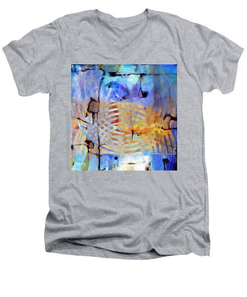 Men's V-Neck T-Shirt featuring the painting Singularity by Dominic Piperata