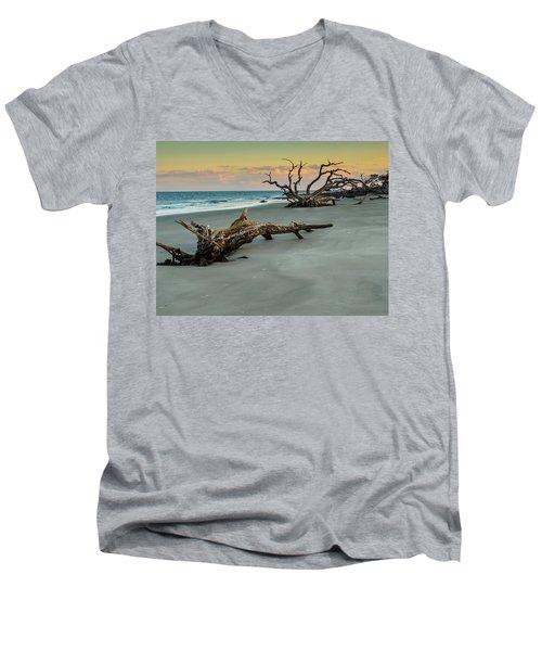 Sunset On Jekyll Island Men's V-Neck T-Shirt