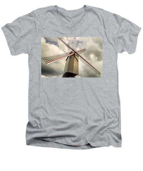 Sint Janshuismolen Windmill 2 Men's V-Neck T-Shirt