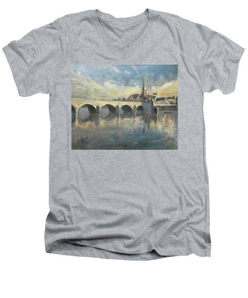 Sint Servaas Bridge Maastricht Men's V-Neck T-Shirt