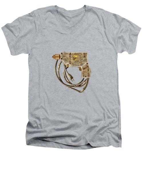 Sioux Drill Motor 1/4 Inch Men's V-Neck T-Shirt