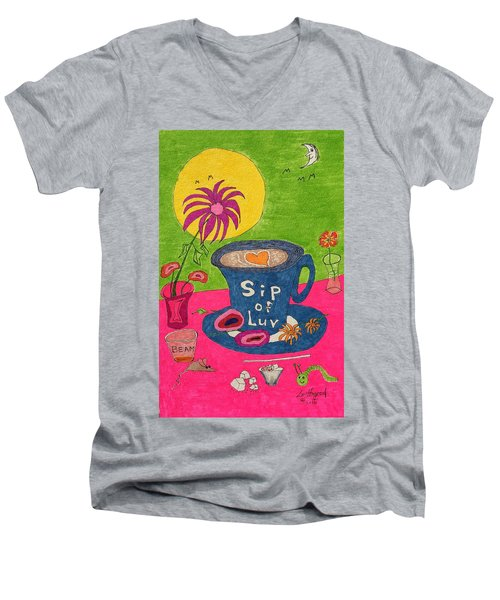 Sip Of Luv Men's V-Neck T-Shirt