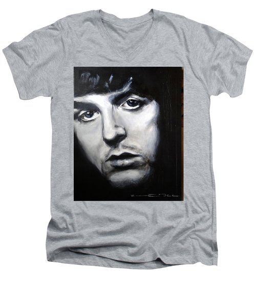 Sir Paul Mccartney Men's V-Neck T-Shirt