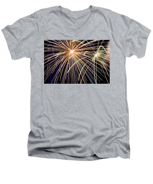 Sister Bay Fireworks Men's V-Neck T-Shirt