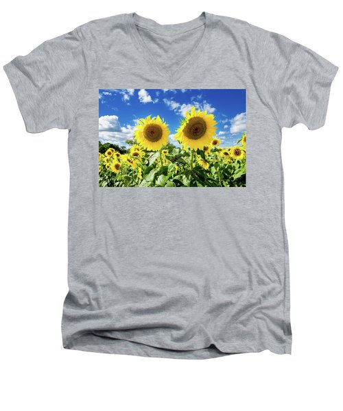 Men's V-Neck T-Shirt featuring the photograph Sisters by Greg Fortier