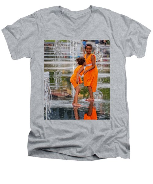 Sisters In The Waterpark Men's V-Neck T-Shirt