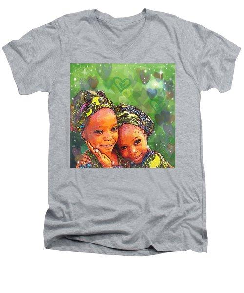 Sisters Love Men's V-Neck T-Shirt