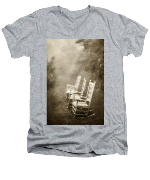 Sit A Spell-sepia Men's V-Neck T-Shirt