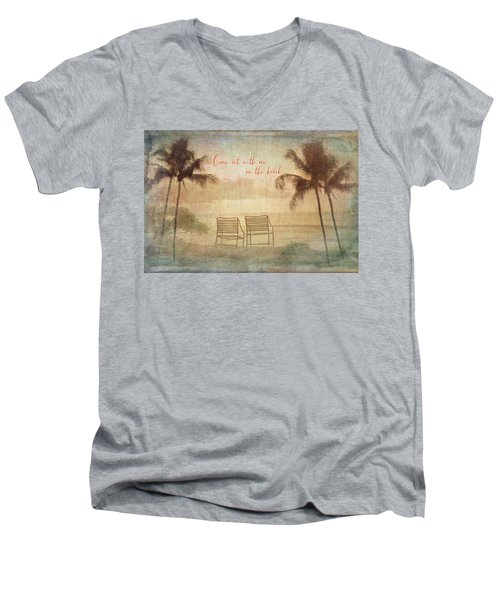 Sit With Me On The Beach Men's V-Neck T-Shirt