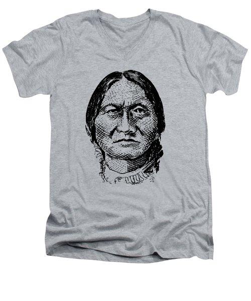 Sitting Bull Graphic Men's V-Neck T-Shirt