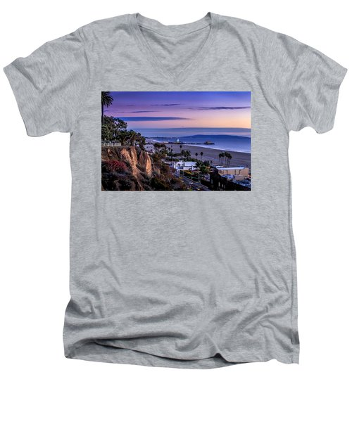 Sitting On The Fence - Santa Monica Pier Men's V-Neck T-Shirt